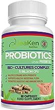 PROBIOTICOS y PREBIOTICOS - Produce Enzimas Digestivas Probióticos para el Colon Irritable - Mejorado con Prebióticos y Contiene Lactobacillus Acidophilus, L Gasseri-90 Cápsulas Probioticos Veganos