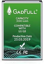 GadFull Batteria compatibile con LG G3 | 2019 Data di produzione | Corrisponde alla batteria a ioni al litio originale BL-53YH | Compatibile con LG G3 D830 | D851 | LS990