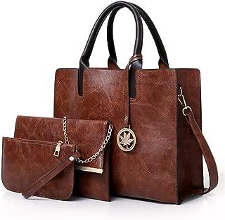 Women Shoulder Bag 3Pcs/Set PU Leather Composite Top-Handle Messenger Bags Ladies Handbag