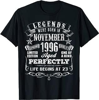 Legends Were Born In November 1996 Shirt 23rd Birthday Gift T-Shirt