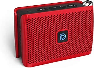DOSS Genie Portable Bluetooth Speaker with Clean Sound, 33ft Bluetooth Range, Built-in Mic, Ultra-Portable Design, Perfect Wireless Speaker Compatible for Home, Outdoors, Travel - Red