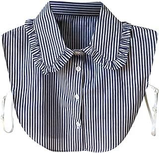 Swyss Women's Peterpan Detachable Fake Collars Half Shirt Blouse Dickie Chic Ruffled False Collar