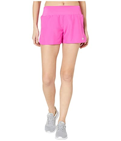 Nike Crew Shorts (Fire Pink/Reflective Silver) Women