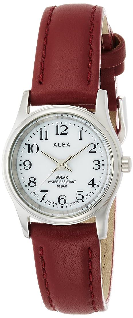 致命的な契約レイア[アルバ]ALBA 腕時計 ソーラー ハードレックス 赤革バンド 10気圧防水 AEGD561 レディース