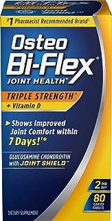 Triple Strength Glucosamine Chondroitin and Vitamin D by Osteo Bi-Flex, Supprts Immune Health and Bone Health*, 80 Coated Tablets