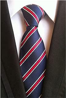 Men's Modern Fine Stripe Silm Ties Woven Formal Business Suit Necktie by Elfeves