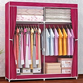 Organisateur de rangement pour armoire à vêtements portable avec support suspendu - Assemblage sans outil - Fenêtre transp...