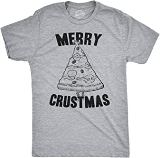 Mens Merry Crustmas Funny Pizza Christmas Tree Holiday Party T Shirt