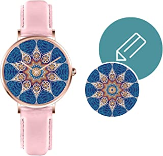 Unisex Watches Personalized Unique Collection with Image Customization DIY Sapphire Crystal NATO Leather Band Gift for