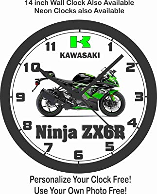 Amazon.com: 2016 KAWASAKI NINJA 10R KRT EDITION WALL CLOCK ...