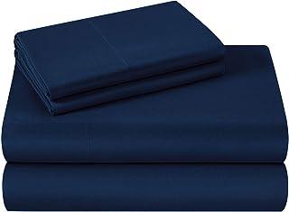 HOMEIDEAS Bed Sheets Set Extra Soft Brushed Microfiber 1800 Bedding Sheets – Deep..