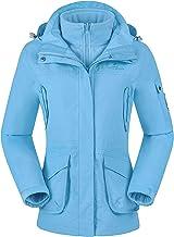 CAMEL CROWN 3-in-1 ski-jas voor dames 2-delige set Outdoor Waterdicht Winddicht Fleece Binnenjas met capuchon