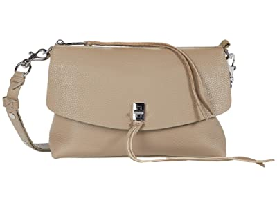 Rebecca Minkoff Darren Top Zip Shoulder (Sandrift) Handbags