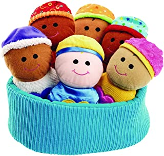 Excellerations Plush Basket of Sensory Baby Dolls–Includes Basket,6SoftMulticulturalBabies –Perfect for Infants,Toddlers i...