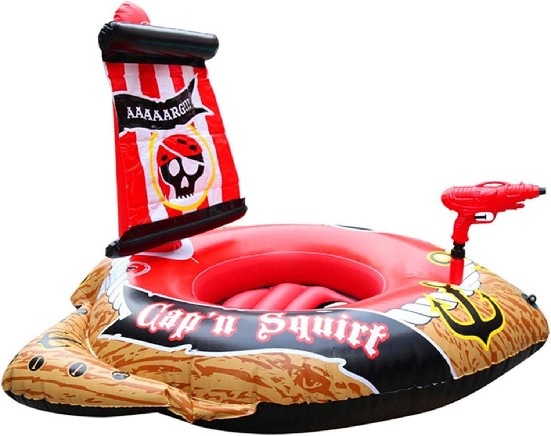 Piscina hinchable juguete para nadar, barco pirata, piscina flotante, barco pirata inflable, duradera, con aspersor, para niños, divertido centro de actividad