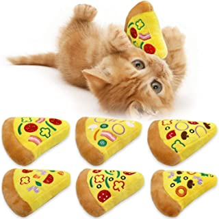 CiyvoLyeen Pizza Catnip Toy Pizza Cat Toys Cute Kitten Cat Toys Pepperoni Pizza Slice Food Pizza Cat Gifts for Cat Lovers