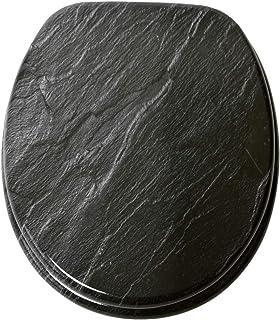 Abattant WC - Grande sélection - Finition de Haute qualité - Charnières Robustes - Fixation Facile (Granit)