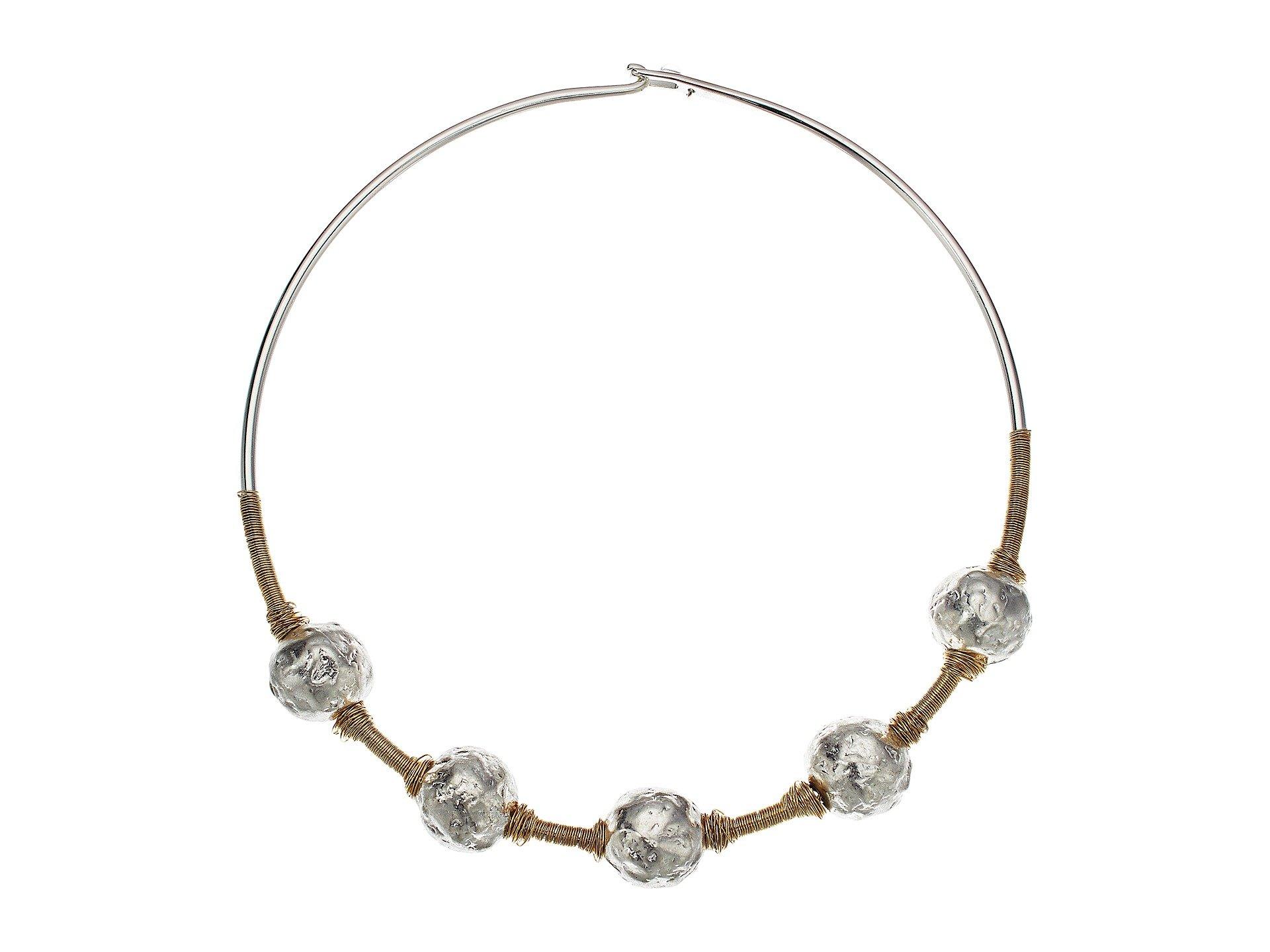 Robert Lee Morris Sculptural Bead Wire Collar Necklace at Zappos.com