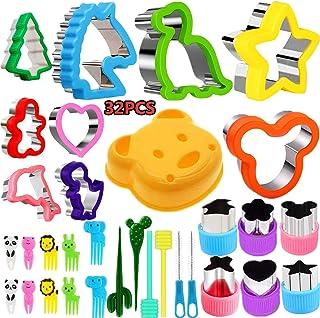 Nifogo Moules Emporte Pièces Animaux Sandwiches Cutter - Forme de Légumes et Coupe-Fruits Set 32 Pièces pour Enfants, Incl...