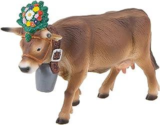 Bullyland 62615-Figura de Juego, la Vaca Alpina Darina, Aprox. 8,5 cm de Altura, Figura Pintada a Mano, sin PVC, para Que ...