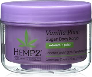 Hempz Herbal Sugar Body Scrub, Light Purple, Vanilla Plum, 7.3 Fluid Ounce