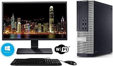 Dell Optiplex 990 SFF Desktop Computer Tower PC (Intel Core i5 3.1 GHz, 8GB Ram, 500GB HDD, WiFi, DVD-RW, Keyboard Mouse) 19in LCD Monitor Brands Vary, Windows 10 (Renewed)