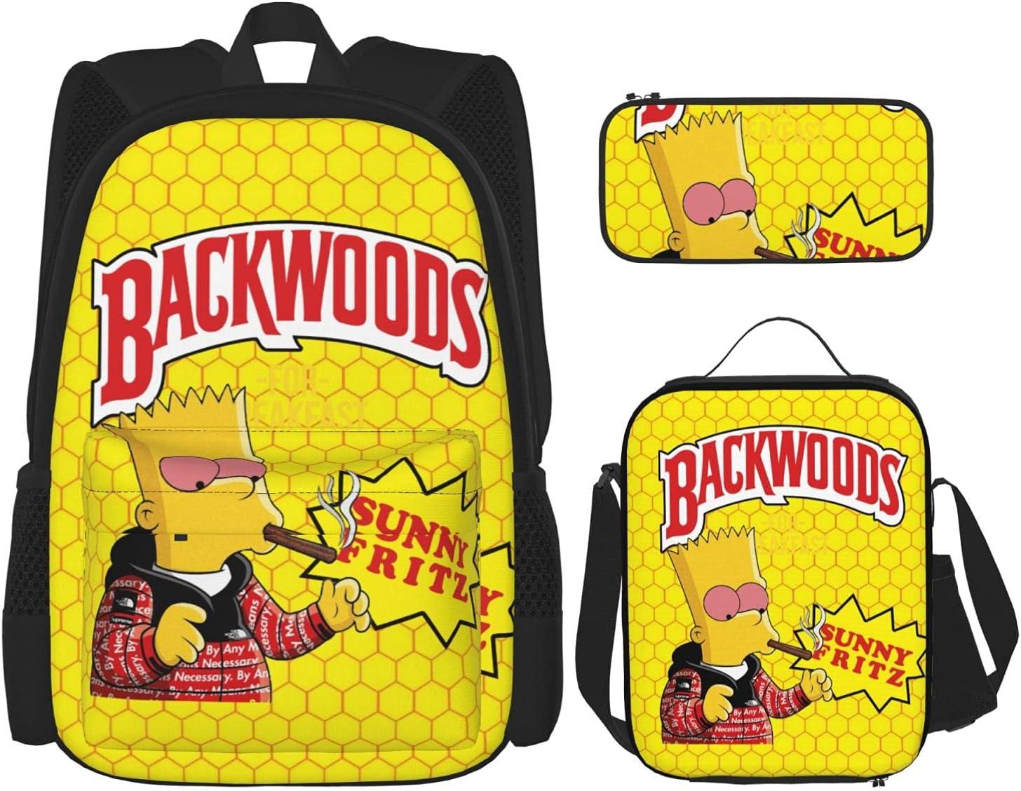 Backwoods Fashion Backpack Messenger Lunch Bag Limited time sale Pencil Same day shipping Set Ba