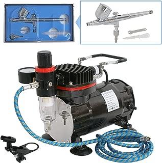 Beginner Air Compressor Airbrush Brush Spray Work Basic Hobby Model Set