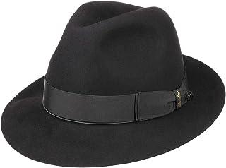 Borsalino Sombrero de Pelo Hombre Mujer/Hombre - Made in Italy Fedora Fieltro con Forro, Banda Grosgrain Verano/Invierno