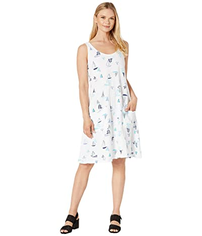 Fresh Produce Harbour Hues Drape Dress (White) Women