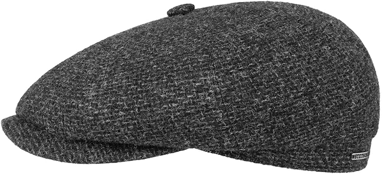 Stetson Hatteras Shetland Wool Flat Cap Popular standard Year-end annual account Made EU in Men The