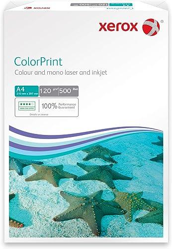 Xerox 003R96602 Rame de 500 feuilles de papier A4, 120 g/m², pour imprimante laser couleur (Blanc) (Import Allemagne)