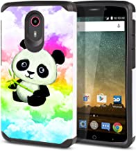 FINCIBO Case Compatible with ZTE N817 Quest Uhura, Dual Layer Hard Back Hybrid Protector Case Cover Anti Shock TPU for Quest Uhura - Baby Panda (Style 2)