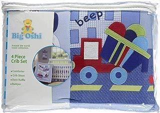 Big Oshi 4-Piece Crib Set, Blue