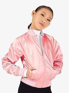 Girls Satin Dance Bomber Jacket D3048C