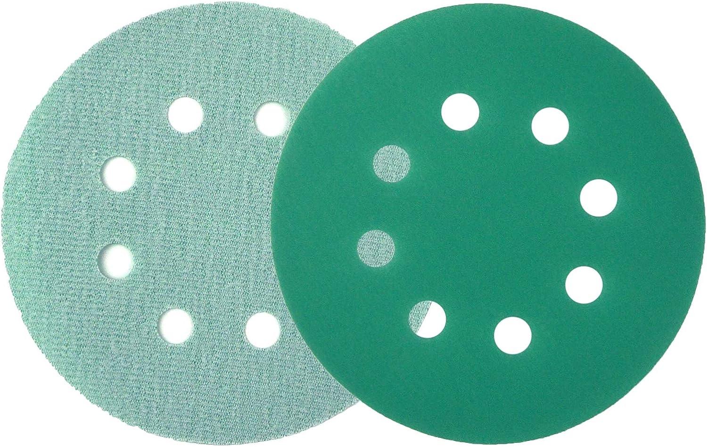 for Car Paint Wood or Metal Grinding and Polishing 20 Pack POLIWELL 5 Inch Sanding Discs 8 Holes 180 Grit Wet Dry Film-Backed Green Line Hook and Loop Dustless Power Random Orbital Sander Paper