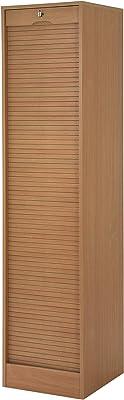 SIMMOB MATHA Classeur à Rideau Hauteur 172 cm-Coloris-Hêtre, 44x70,1x172,4 cm