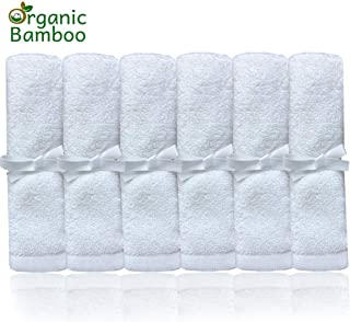 Organic Baby Washcloths - Ultra Soft Bamboo Wash Clothes for Face - Perfect for Sensitive Skin and All Ages (Infant, Kids, Adults) - Super Absorbent and Dye Free - Girl and Boy.
