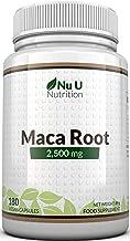 Raíz de Maca | 2500 mg 2500mg extracto de Maca Andina | 180 Cápsulas (Suministro para 6 Meses) | Complemento alimenticio de Nu U Nutrition
