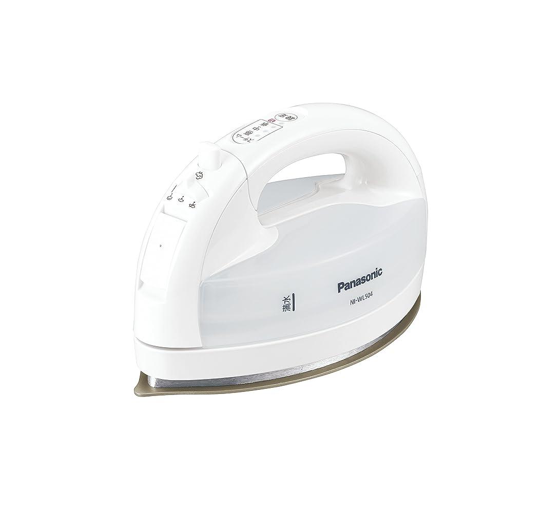トースト愛されし者分泌するパナソニック コードレススチームWヘッドアイロン ホワイト NI-WL504-W