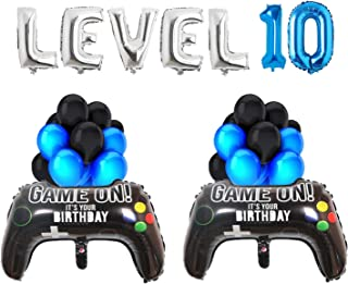 Video Game Balloons Level Up 10th Birthday Party Supplies, 18 Pieces (10th)