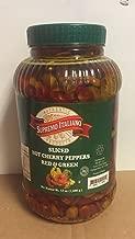 Supremo Italiano Hot Sliced Cherry Peppers 128 FL. OZ (1 Gallon) 3.8 Liters