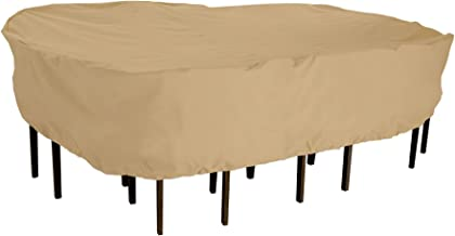 Classic Accessories Terrazzo Rectangular/Oval Patio Table & Chair Set Cover, Large