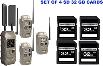 $749 » Cuddeback CuddeLink Starter Kit 3 + 1 Trail Camera Cellular Combo Pack and Set of 4 SD 32 GB Cards (5 Items)