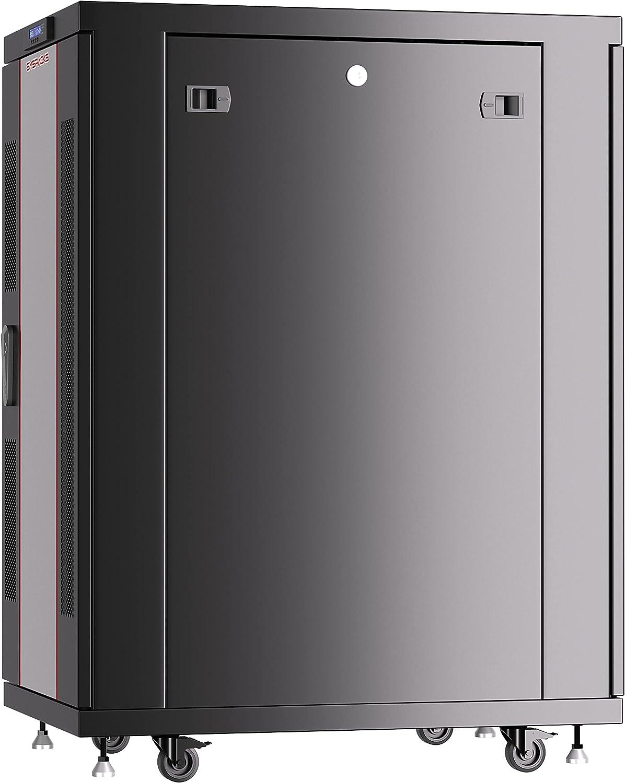 Server Rack - Locking Cabinet - Network Rack - Av Cabinet - 22 U - Rack Mount - Free Standing Network Rack- Server Cabinet - Caster Leveler - Rack Shelf - Cooling Fan - Thermostat - PDU Sysracks