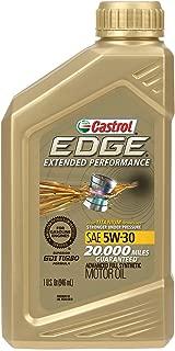 Castrol 06243 EDGE Extended Performance 5W-30 Advanced Full Synthetic Motor Oil, 1 Quart, 6 Pack