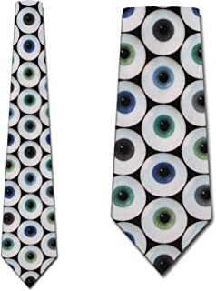 Eyeballs Ties Eye Neckties Optometrist Tie Mens Neck tie