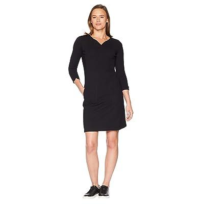 Royal Robbins Geneva Ponte Dress (Jet Black) Women