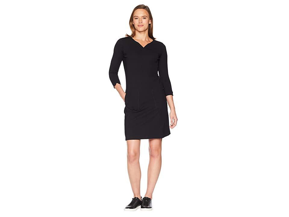 Royal Robbins Geneva Ponte Dress (Jet Black) Women