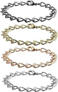 KUIYAI 4 قطع سلسلة سوار للنساء الرجال DIY سحر سوار صنع المجوهرات